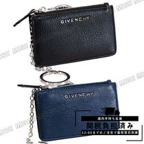 GIVENCHY Leather Long Wallet  Logo Coin Cases