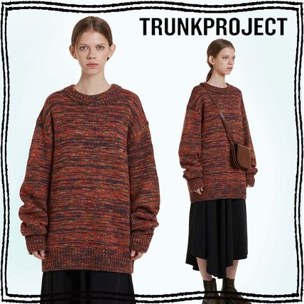 TRUNK PROJECT Crew Neck Pullovers Unisex Wool Blended Fabrics Street Style