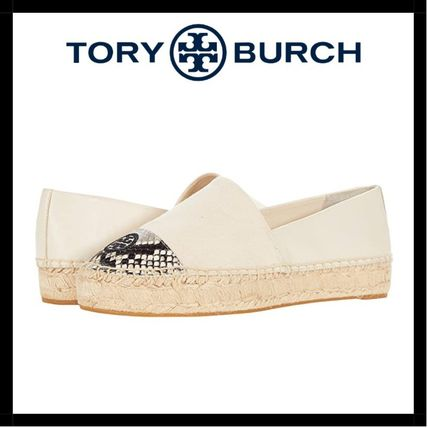 Tory Burch Platform Round Toe Casual Style Blended Fabrics Street Style