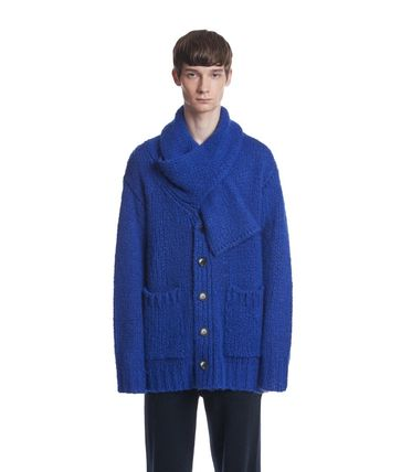 TRUNK PROJECT Cardigans Button-down Unisex Wool Nylon Blended Fabrics Street Style 2