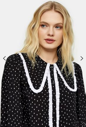 Dots Casual Style Street Style Long Sleeves Medium