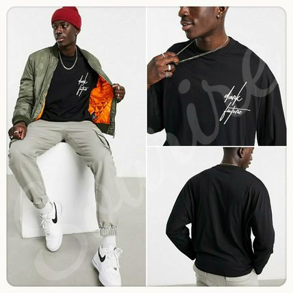 ASOS Shirts Pullovers Unisex Street Style Long Sleeves Cotton Logo