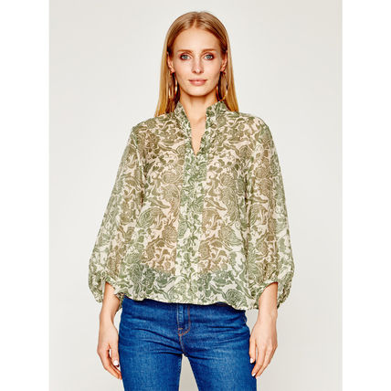 Flower Patterns Paisley Tropical Patterns Casual Style Silk
