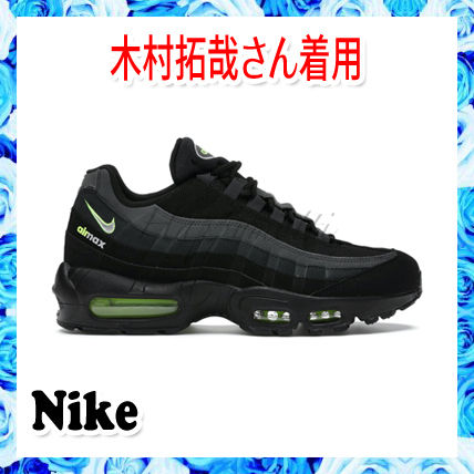 Nike AIR MAX 95 Stripes Unisex Blended Fabrics Street Style Plain Leather