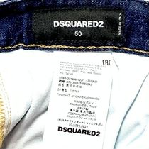 D SQUARED2 Skinny Tapered Pants Denim Street Style Cotton Handmade 17