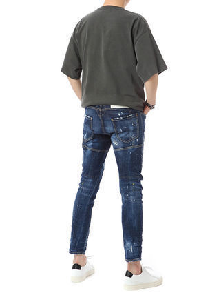 D SQUARED2 Skinny Tapered Pants Denim Street Style Cotton Handmade 3