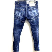 D SQUARED2 Skinny Tapered Pants Denim Street Style Cotton Handmade 11