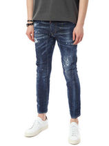 D SQUARED2 Skinny Tapered Pants Denim Street Style Cotton Handmade 4