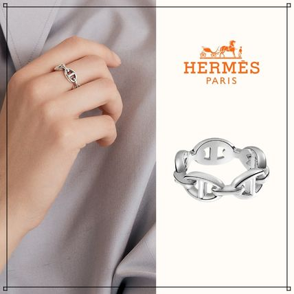 HERMES Chaine dAncre Chaine D'Ancre Enchainee Ring Small Model