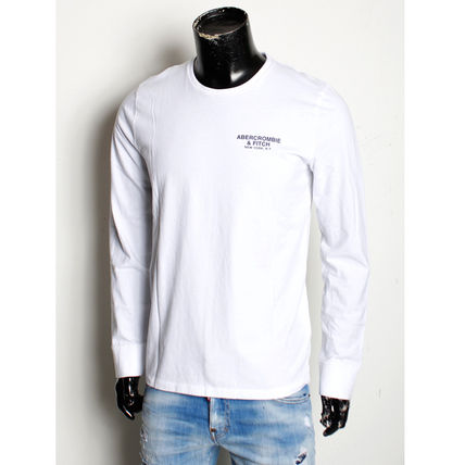 Abercrombie & Fitch Crew Neck Long Sleeves Cotton Long Sleeve T-shirt Logo