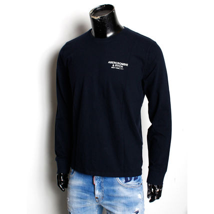Abercrombie & Fitch Long Sleeve T-shirt Logo Surf Style Crew Neck Long Sleeves