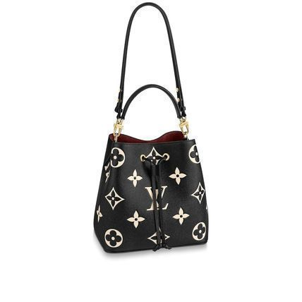 Louis Vuitton NEONOE Monogram Casual Style Canvas A4 2WAY Leather Office Style
