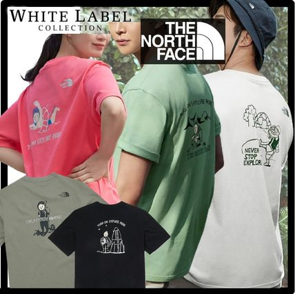 THE NORTH FACE More T-Shirts Unisex Street Style Outdoor Graphic Prints T-Shirts