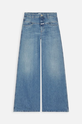 CLOSED Wool Street Style Plain Wide & Flared Jeans