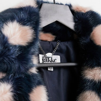 Casual Style Faux Fur Medium Eco Fur Coats