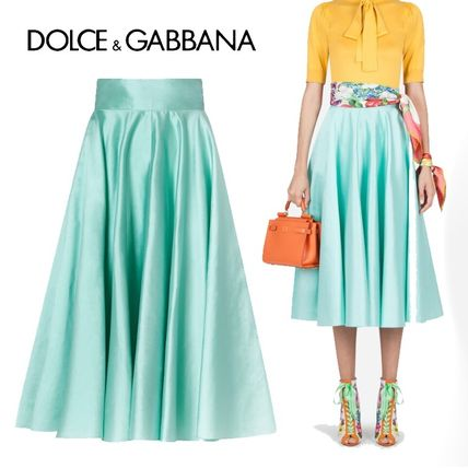 Dolce & Gabbana Casual Style Silk Plain Party Style Office Style
