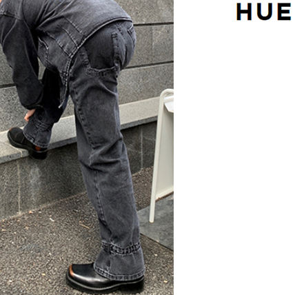 HUE More Jeans Slax Pants Denim Street Style Collaboration Plain Jeans