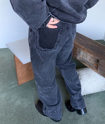 HUE More Jeans Slax Pants Denim Street Style Collaboration Plain Jeans 2