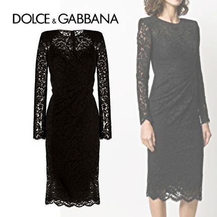 Dolce & Gabbana Formal Style  Crew Neck Tight Long Sleeves Plain Medium