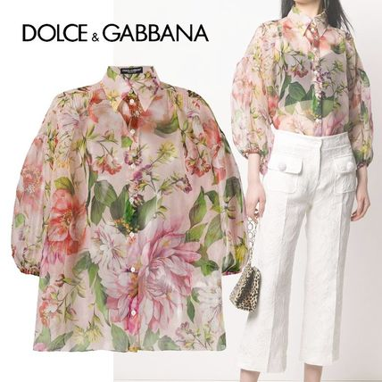Dolce & Gabbana Formal Style  Flower Patterns Casual Style Silk Party Style