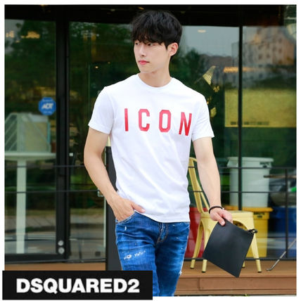 D SQUARED2 More T-Shirts Unisex Street Style Cotton Short Sleeves Logo Luxury