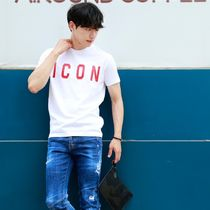D SQUARED2 More T-Shirts Unisex Street Style Cotton Short Sleeves Logo Luxury 8