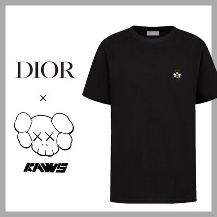 Christian Dior More T-Shirts Pullovers Unisex Street Style Plain Logo Luxury T-Shirts