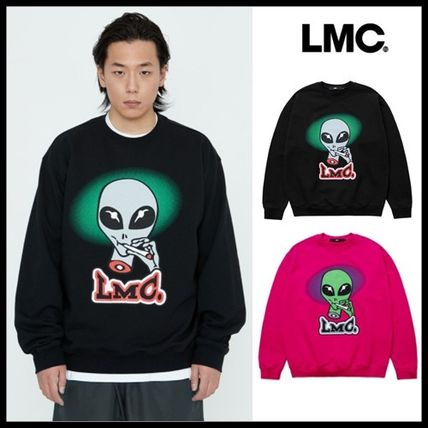 LMC Unisex Street Style Long Sleeves Sweatshirts