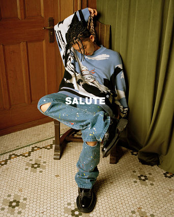 SALUTE Unisex Street Style Jeans