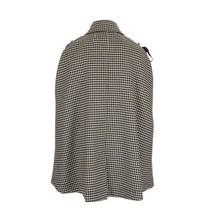 RED VALENTINO Zigzag Wool Ponchos & Capes
