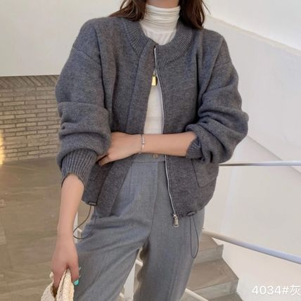 Formal Style  Cable Knit Casual Style Dolman Sleeves