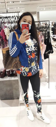 adidas Printed Pants Flower Patterns Casual Style Street Style