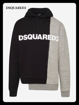 D SQUARED2 Sweatshirts Street Style Long Sleeves Plain Cotton Logo Luxury