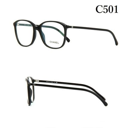 CHANEL Unisex Square Eyeglasses
