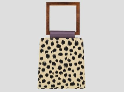 Leopard Patterns Casual Style Suede Blended Fabrics 2WAY