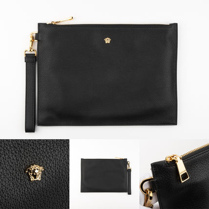 VERSACE Leather Clutches