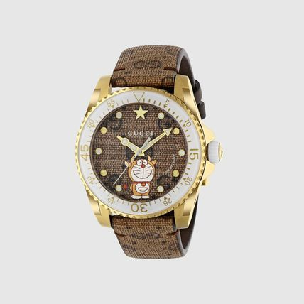 GUCCI Casual Style Round Party Style Quartz Watches Analog Watches