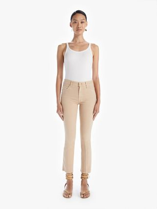 Casual Style Plain Cotton Office Style Pants