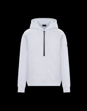 MONCLER Street Style Plain Cotton Hoodies