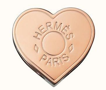 HERMES Heart Plain Party Style Office Style Elegant Style