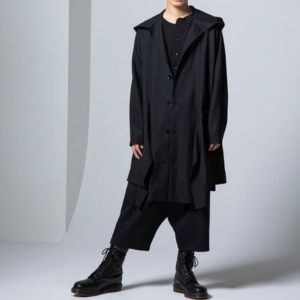 Yohji Yamamoto Button-down Unisex Wool Long Sleeves Plain Designers Shirts