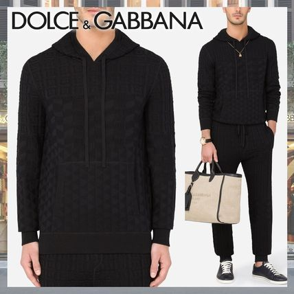 Dolce & Gabbana Sweaters Pullovers Silk Street Style Long Sleeves Cotton Luxury