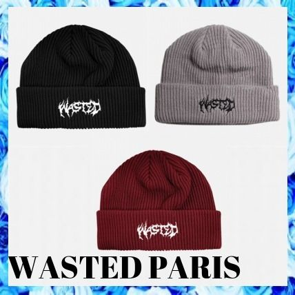 WASTED PARIS Unisex Street Style Knit Hats