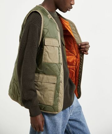 Camouflage Nylon Street Style Plain Fly-Fishing Vest