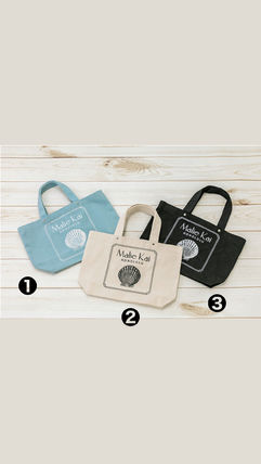 Casual Style Unisex Blended Fabrics Party Style Logo Totes
