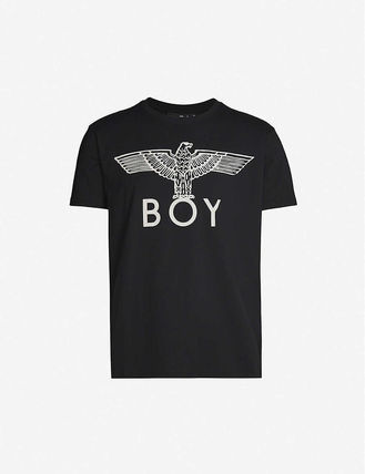 Unisex Street Style Cotton Short Sleeves Logo T-Shirts