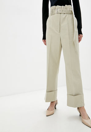 Plain Cotton Medium Elegant Style Pants