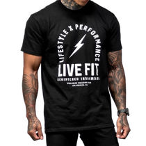 Live Fit Crew Neck Crew Neck Street Style Cotton Short Sleeves Logo Workout 5