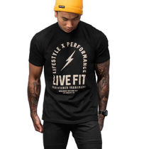 Live Fit Crew Neck Crew Neck Street Style Cotton Short Sleeves Logo Workout 8