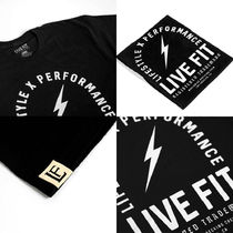 Live Fit Crew Neck Crew Neck Street Style Cotton Short Sleeves Logo Workout 10